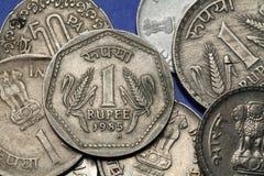 Νομίσματα της Ινδίας Στοκ Φωτογραφίες