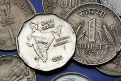 Νομίσματα της Ινδίας Στοκ Φωτογραφία
