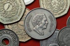 Νομίσματα της Ιορδανίας Δοχείο Talal του Χουσεΐν βασιλιάδων Στοκ Εικόνες