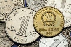 Νομίσματα της Κίνας Στοκ Εικόνες