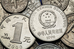 Νομίσματα της Κίνας Στοκ φωτογραφίες με δικαίωμα ελεύθερης χρήσης