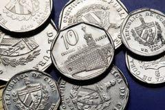 Νομίσματα της Κούβας Κουβανικό μετατρέψιμο πέσο Στοκ Εικόνες