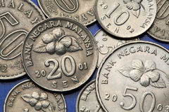 Νομίσματα της Μαλαισίας Στοκ εικόνα με δικαίωμα ελεύθερης χρήσης