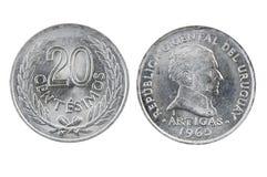 Νομίσματα της Ουρουγουάης Στοκ Εικόνες