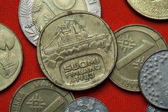 Νομίσματα της Φινλανδίας Στοκ Φωτογραφίες