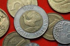 Νομίσματα της Φινλανδίας Στοκ εικόνα με δικαίωμα ελεύθερης χρήσης