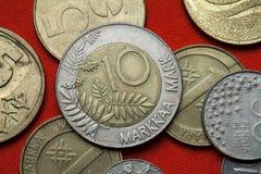 Νομίσματα της Φινλανδίας Στοκ Εικόνες