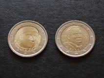 Νομίσματα του Giovanni Boccaccio και του Giovanni Pascoli ΕΥΡ Στοκ φωτογραφίες με δικαίωμα ελεύθερης χρήσης