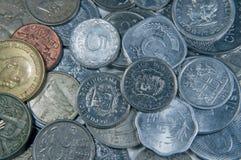 νομίσματα τρία κόσμος Στοκ φωτογραφίες με δικαίωμα ελεύθερης χρήσης