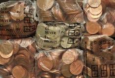 νομίσματα τσαντών Στοκ εικόνα με δικαίωμα ελεύθερης χρήσης