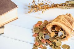 Νομίσματα χρημάτων στοκ φωτογραφία με δικαίωμα ελεύθερης χρήσης