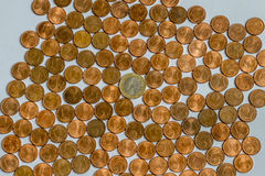 Νομίσματα χρημάτων Στοκ Εικόνα