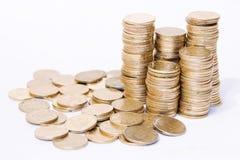 νομίσματα χρυσά Στοκ Εικόνες