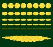 νομίσματα χρυσά Στοκ Φωτογραφίες