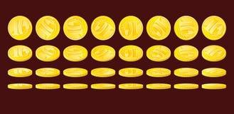 νομίσματα χρυσά απεικόνιση αποθεμάτων
