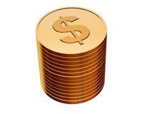νομίσματα χρυσά διανυσματική απεικόνιση
