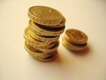 νομίσματα 1 στοκ φωτογραφίες