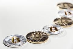 Νομίσματα BTC Bitcoin στοκ εικόνα με δικαίωμα ελεύθερης χρήσης