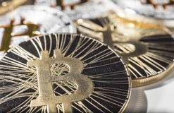 Νομίσματα BTC Bitcoin Στοκ εικόνες με δικαίωμα ελεύθερης χρήσης