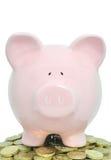 νομίσματα piggybank στοκ εικόνες με δικαίωμα ελεύθερης χρήσης