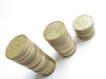 νομίσματα rouleaues Στοκ Εικόνες