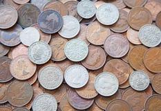 νομίσματα UK Στοκ Φωτογραφία