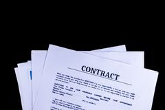 Νομικά έγγραφα εγγράφων συμφωνητικού σύμβασης στοκ φωτογραφία
