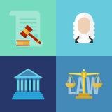 Νομικά εμβλήματα έννοιας νόμου Στοκ εικόνες με δικαίωμα ελεύθερης χρήσης