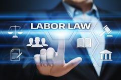 Νομική έννοια τεχνολογίας επιχειρησιακού Διαδικτύου δικηγόρων Εργατικού νόμου Στοκ Φωτογραφίες