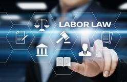 Νομική έννοια τεχνολογίας επιχειρησιακού Διαδικτύου δικηγόρων Εργατικού νόμου Στοκ εικόνα με δικαίωμα ελεύθερης χρήσης