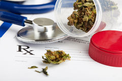 Νομική έννοια φαρμάκων Στοκ Φωτογραφία