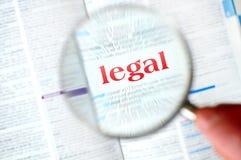 Νομική λέξη ενίσχυσης Στοκ εικόνες με δικαίωμα ελεύθερης χρήσης