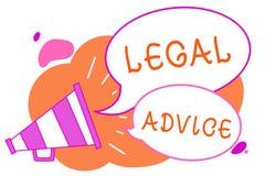 Νομική συμβουλή γραψίματος κειμένων γραφής Έννοια που σημαίνει την άποψη δικηγόρων για τη διαδικασία νόμου ιδιαίτερο Megaphone κα ελεύθερη απεικόνιση δικαιώματος