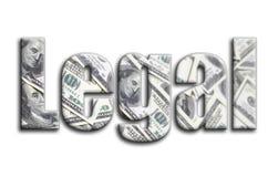 νομικός Η επιγραφή έχει μια σύσταση της φωτογραφίας, η οποία απεικονίζει πολλούς λογαριασμούς αμερικανικών δολαρίων απεικόνιση αποθεμάτων