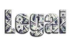 νομικός Η επιγραφή έχει μια σύσταση της φωτογραφίας, η οποία απεικονίζει πολλούς λογαριασμούς αμερικανικών δολαρίων ελεύθερη απεικόνιση δικαιώματος