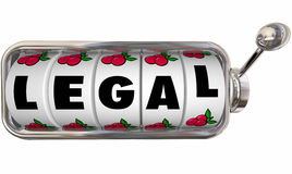 Νομικός δικηγόρος πληρεξούσιων φορολογικού νόμου ροδών πινάκων μηχανημάτων τυχερών παιχνιδιών με κέρματα του Word Στοκ φωτογραφία με δικαίωμα ελεύθερης χρήσης