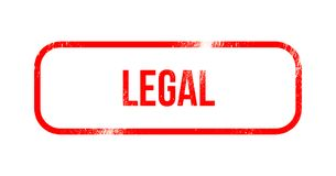 νομικός - κόκκινο λάστιχο grunge, γραμματόσημο διανυσματική απεικόνιση