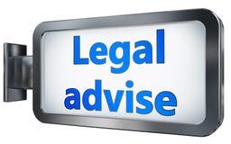Νομικός συμβουλεψτε για το υπόβαθρο πινάκων διαφημίσεων ελεύθερη απεικόνιση δικαιώματος