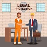 Νομικός σύμβουλος, επίπεδο πρότυπο εμβλημάτων υπηρεσιών δικηγόρων ελεύθερη απεικόνιση δικαιώματος