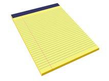νομικό μαξιλάρι κίτρινο Στοκ Φωτογραφία