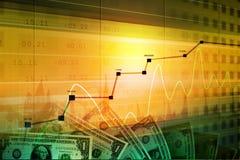 Νομισματικές έννοια και αγορά που αναλύουν τη γραφική παράσταση απεικόνιση αποθεμάτων