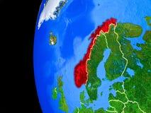 Νορβηγία από το διάστημα διανυσματική απεικόνιση
