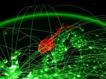 Νορβηγία στην πράσινη σφαίρα διανυσματική απεικόνιση