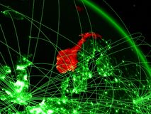 Νορβηγία στην πράσινη σφαίρα απεικόνιση αποθεμάτων
