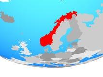 Νορβηγία στη σφαίρα διανυσματική απεικόνιση
