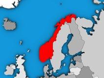 Νορβηγία στον τρισδιάστατο χάρτη απεικόνιση αποθεμάτων