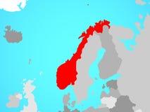 Νορβηγία στο χάρτη ελεύθερη απεικόνιση δικαιώματος