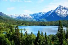 Νορβηγικά λίμνη και βουνά Στοκ εικόνα με δικαίωμα ελεύθερης χρήσης