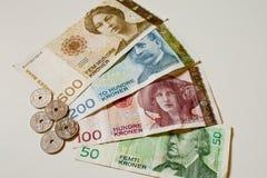 Νορβηγικά χρήματα εγγράφου κορωνών στοκ εικόνες με δικαίωμα ελεύθερης χρήσης