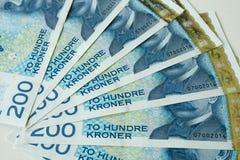 Νορβηγικά χρήματα εγγράφου κορωνών 200 NOK στοκ φωτογραφίες με δικαίωμα ελεύθερης χρήσης